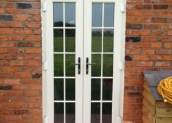 Cream Profile French Doors External Georgian Profile