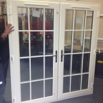 Cream French Doors in Factory
