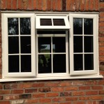 Cream PVC Windows External Georgian Profile